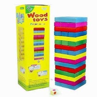 Bộ đồ chơi rút gỗ màu, số loại lớn