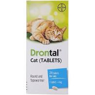 [Rẻ vô địch] [Có sẵn] Thuốc sổ giun cao cấp cho mèo Drontal Cat cho mèo 4kg thumbnail