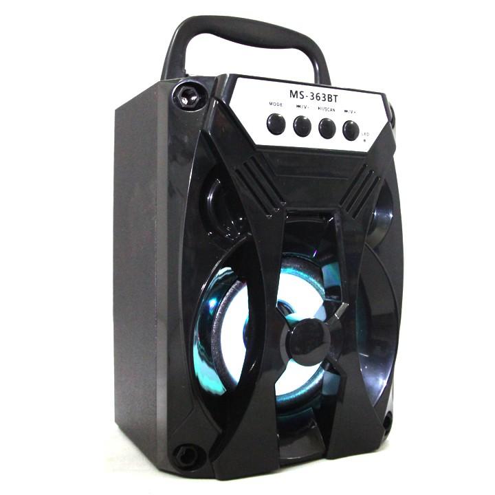 Loa Gỗ Bluetooth Xách Tay Led Màu