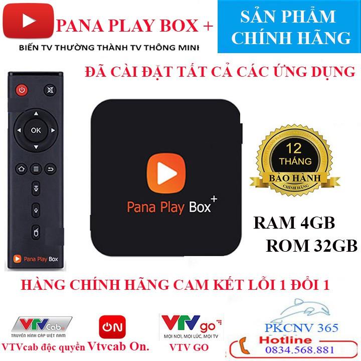 Tivi box PANA PLAY BOX – CHÍNH HÃNG-RAM 4GB ROM 32GB Miễn Phí gói VtvCab ON BẢN QUYỀN 12 Tháng Miễn phí  BẢO HÀNH