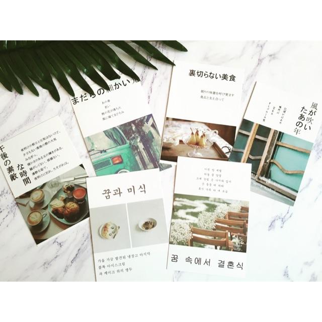Thiệp chữ Nhật, Hàn 10x15 làm phụ kiện chụp ảnh sản phẩm