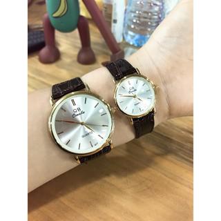 Cặp Đồng hồ đôi dây da Qianba cao cấp thời thượng QB38 thumbnail