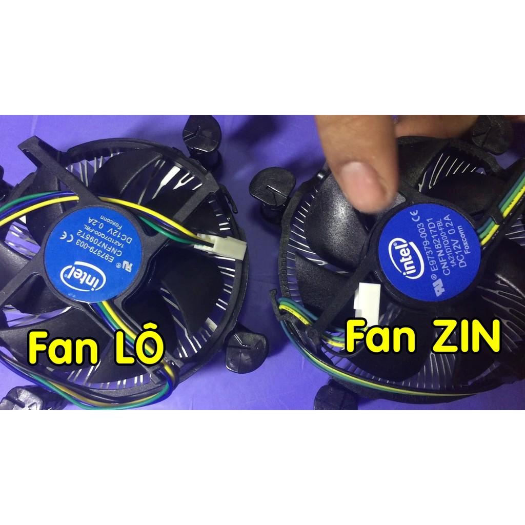 FAN ZIN INTEL QUẠT TẢN NHIỆT CPU SOCKET 115x 1150 1151 1155 1156 Giá chỉ 20.000₫