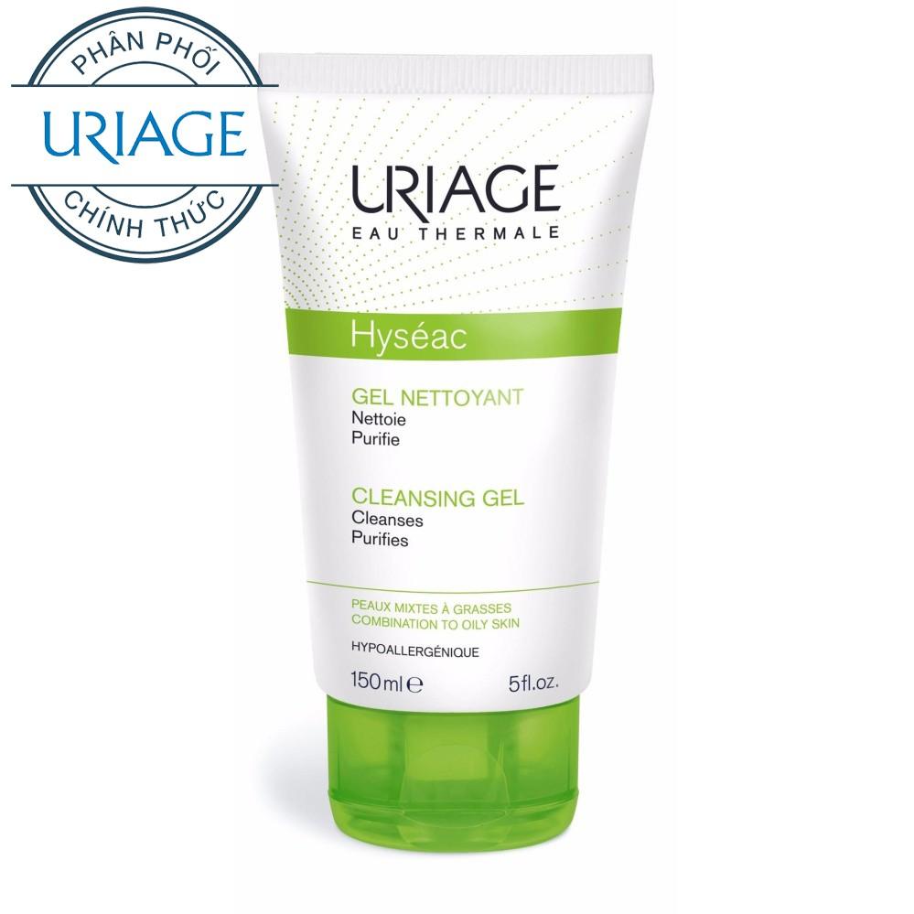 Gel rửa mặt dành cho da dầu, da mụn & da hỗn hợp Uriage HYSÉAC GEL NETTOYANT 150ml