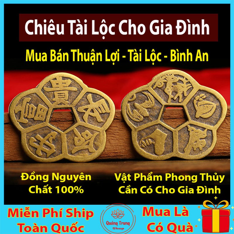 Đồng Tiền Hoa Mai ⭐FREESHIP⭐ Kim Tiền Tài Lộc