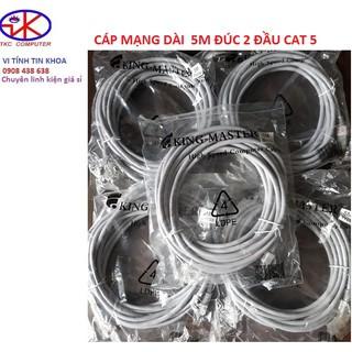 Cáp mạng dài 5m đúc 2 đầu liền dây CAT 5