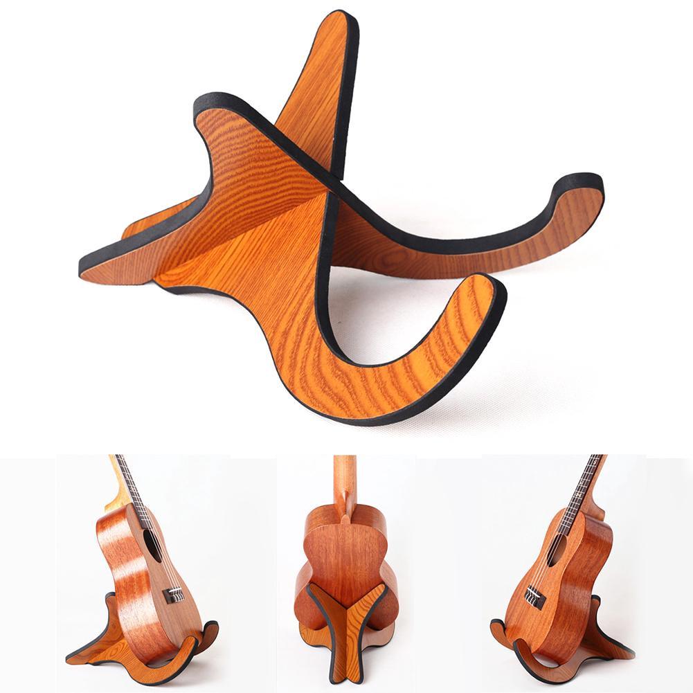 Foldable Small Wood Holder Stand For Guitar Ukulele Violin Mandolin Banjo Rack
