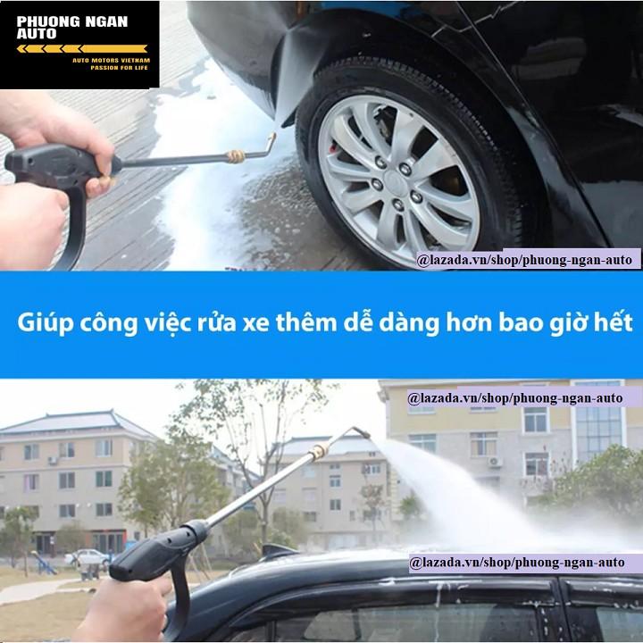 Thanh nối dài s.úng rửa xe áp lực cao có sẵn đầu kết nối nhanh - uốn cong 30 độ, dài 34 cm
