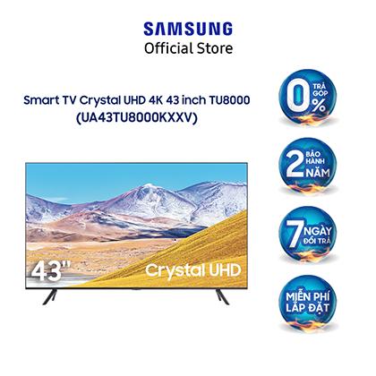 [Nhập ELSAM19 giảm 5% đơn 500K] Smart Tivi Samsung Crystal UHD 4K 43 inch UA43TU8000KXXV - Model 2020 - Miễn phí lắp đặt