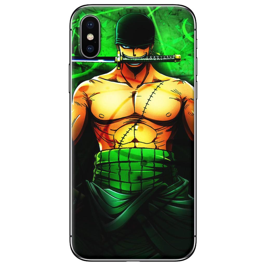 Ốp lưng iPhone X - nhựa dẻo Zoro ngậm kiếm