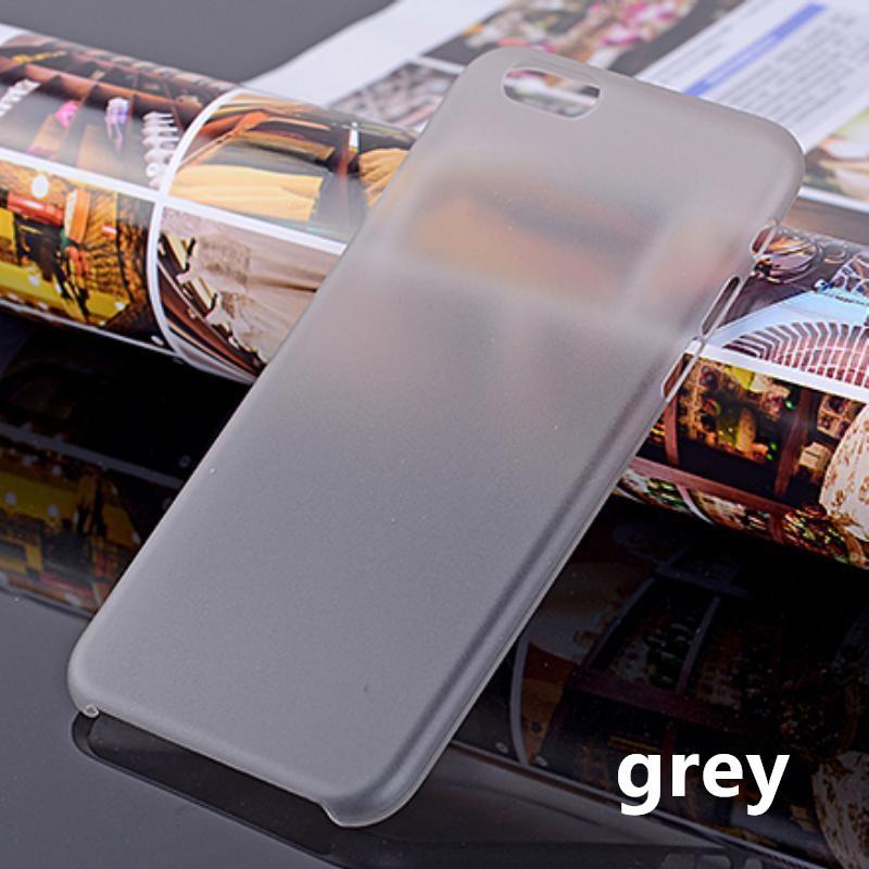 Ốp điện thoại màu trơn trong mờ cho iPhone 4/4S/5/5S/SE/6/6S/6+/6S+/7/8/7+/8+/X