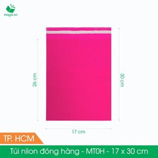 Combo 100 túi nilon gói hàng màu hồng - túi niêm phong đóng hàng thumbnail