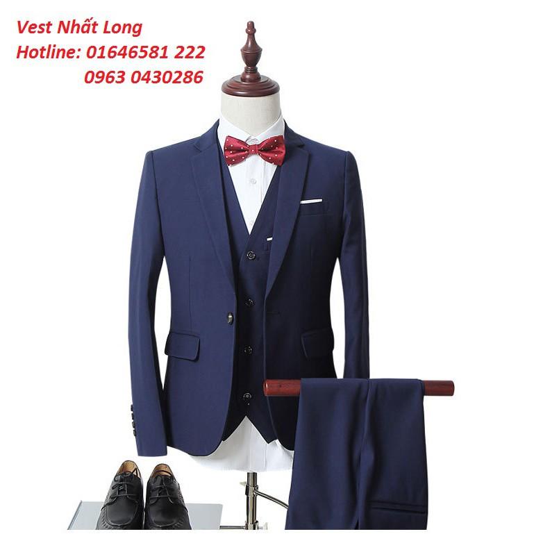 Bộ quần áo Vest nam Nhất Long Chất đẹp thời trang cao cấp 2018