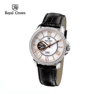 Đồng hồ nam Chính Hãng Royal Crown 8426ST (Automatic) dây da vỏ trắng