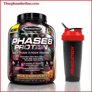 Sữa tăng cơ cung cấp Protein ban đêm PHASE 8 4.6LBS (2.1Kg) - VỊ CHOCOLATE - Hàng chính hãng USA - Kèm quà tặng thumbnail
