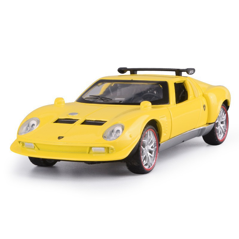 Toy 1:28 simulation Lamborghini Gala with sound and light pull back children's c