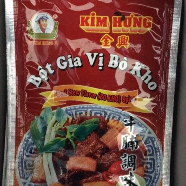 Gia vị bò kho Kim Hưng 25g