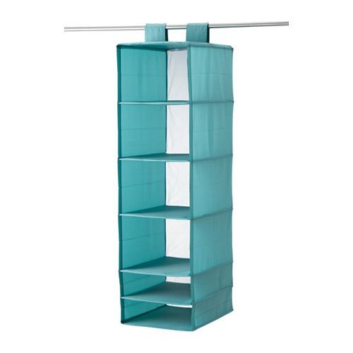 Giá treo trong tủ quần áo Ikea Skubb 35 x 45 x 125 cm (Xanh)