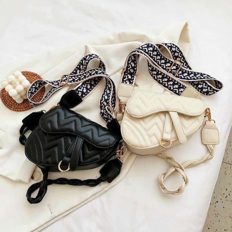Túi đeo chéo yên ngựa 2 dây đeo chéo thời trang 851