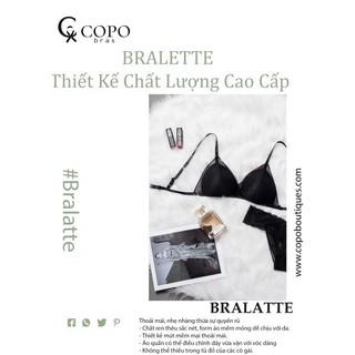 Bralette [giảm 38%] Set Đồ Lót Bralette REN Cao Cấp Thiết Kế không cọng] màu đen