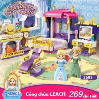Hộp đồ chơi lắp ráp phòng ngủ công chúa LEAH dành cho trẻ em (mã 2601)