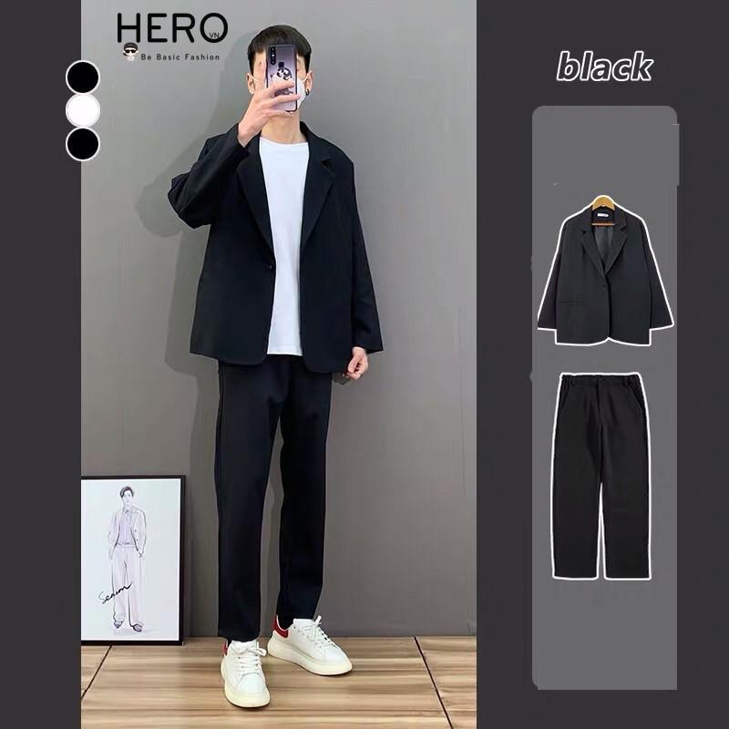 Set Blazer Nam, Áo Blazer Kèm Quần Âu Nam phong cách Hàn Quốc SET2