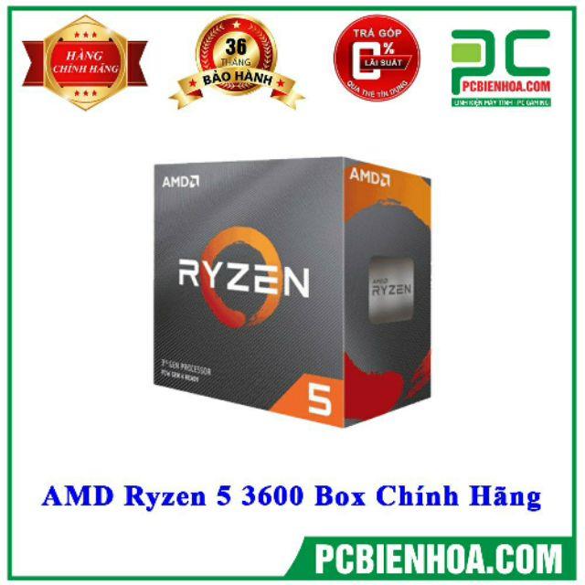 Bộ vi xử lý AMD RYZEN 5 3600 /36MB /3.6GHZ /6 NHÂN 12 LUỒNG New Box chính hãng