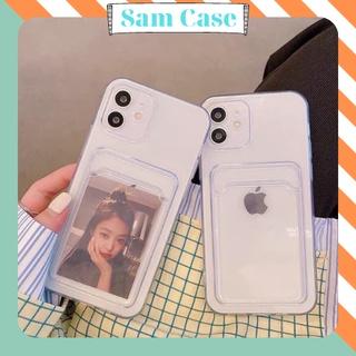 Ốp Lưng Điện Thoại Iphone Trong Suốt Dạng Ví Có Ngăn Đựng Thẻ -đựng hình thumbnail