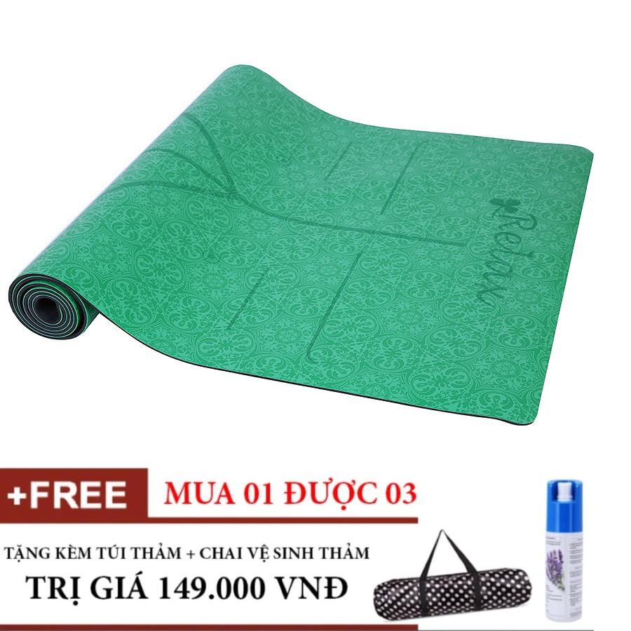 Combo Thảm Tập Yoga Định Tuyến PU cao cấp (Xanh lá) Tặng túi và Chai xịt thảm - 3317327 , 1081481213 , 322_1081481213 , 2220000 , Combo-Tham-Tap-Yoga-Dinh-Tuyen-PU-cao-cap-Xanh-la-Tang-tui-va-Chai-xit-tham-322_1081481213 , shopee.vn , Combo Thảm Tập Yoga Định Tuyến PU cao cấp (Xanh lá) Tặng túi và Chai xịt thảm