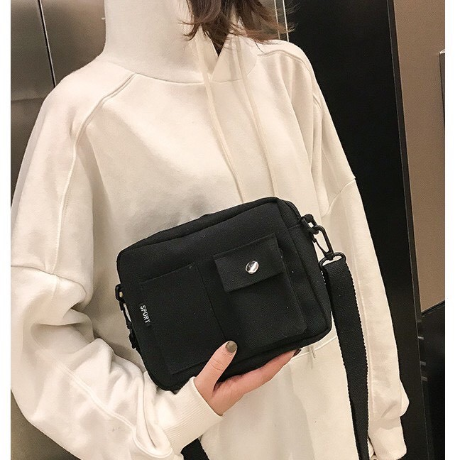 Túi đeo chéo ,túi Bao Tử vải canvas dày dặn