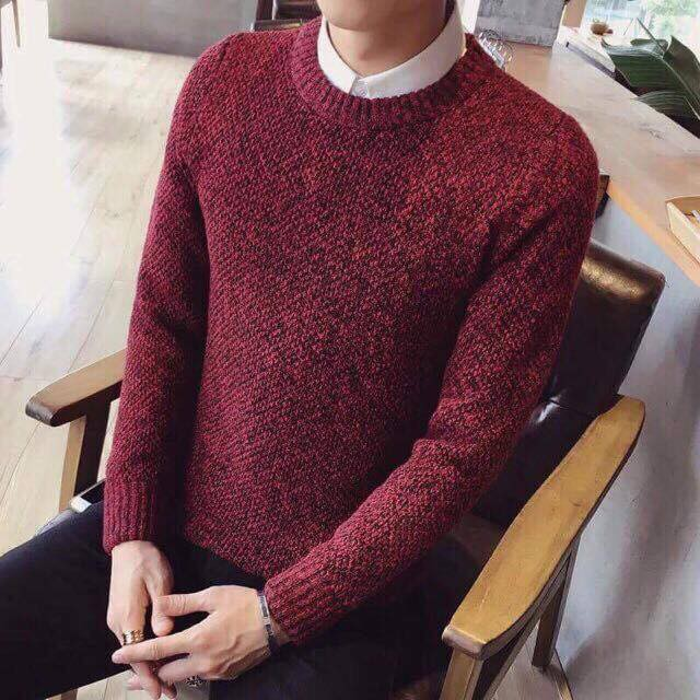 Áo len nam phong cách trẻ trung - áo len cổ tròn