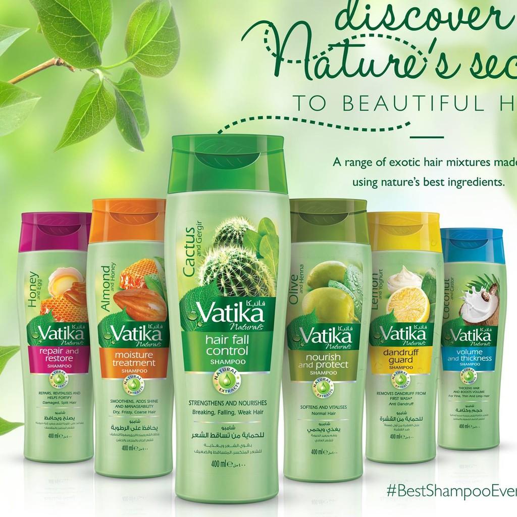 Dầu gội xả thảo dược Vatika suôn mượt giảm rụng tóc trị gàu 200ml