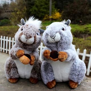 SDWC Cute Simulation Squirrel Animal Stuffed Doll Soft Fluffy Sofa Couch Decor Toy