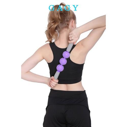 Gậy massage yoga thanh con lăn massage thư giãn cơ bắp tay bắp chân cột sống thiết bị massage yoga GYGA