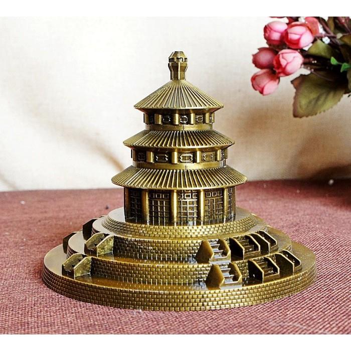 Biểu tượng văn hóa Trung Hoa mô hình Thiên Đàn thu nhỏ, trang trí độc đáo