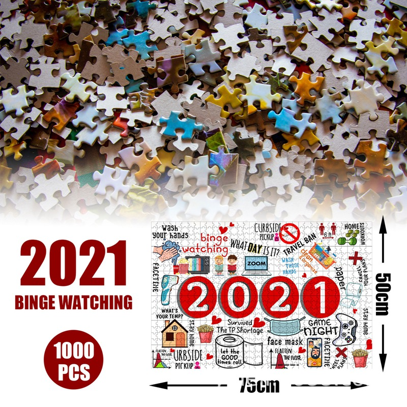 Fuyongkang 2020 Jigsaw Puzzle 1000 Piece Jigsaw to 2020 Paper Jigsaw Puzzle Adult Children Toys for Adults and Kids to...