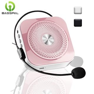 Bộ Loa Basspal K200 Thiết Kế Nhỏ Gọn Khuếch Đại Âm Thanh Giọng Nói Bluetooth Mini Kèm Theo Micro Có Dây