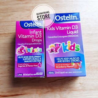 Ostelin Vitamin D3 Liquid/Drops cho bé