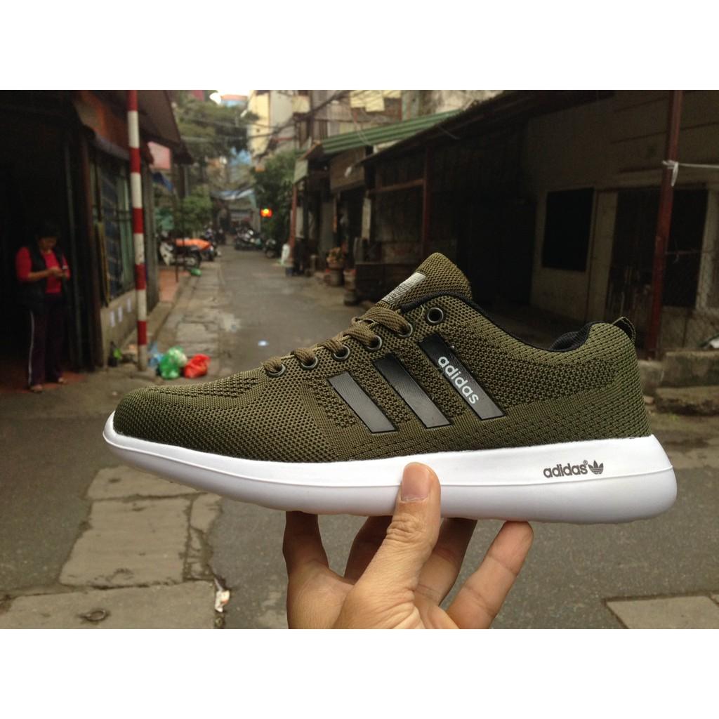 [FREE SHIP] Giày Adidas Zoom màu xanh rêu