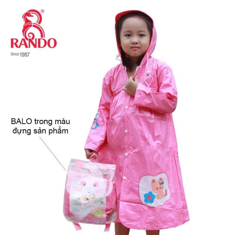 Áo mưa dây kéo trẻ em cao cấp RANDO