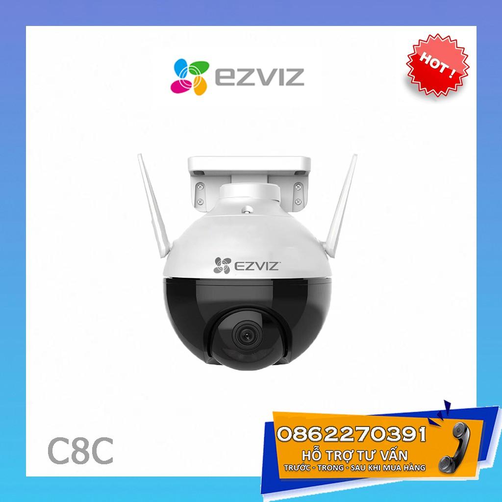 [CAO CẤP] Camera Wifi Ngoài Trời PTZ Mini (Xoay 360) EZVIZ C8C Màu Ban Đêm Công Nghệ AI Thông Minh 1080P
