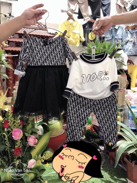 Set dài tay Dir váy/quần cho bé