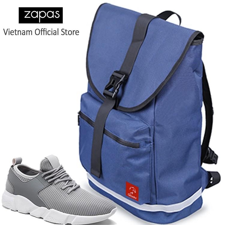 Combo Balo Du Lịch Glado Classical BLL005 (Xanh) Và Giày Sneaker Thể Thao Zapas GS080 (Xám)