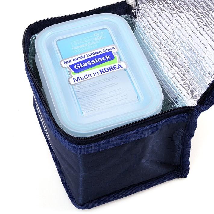 Bộ 3 hộp thủy tinh GlassLock 400ml kèm túi giữ nhiệt