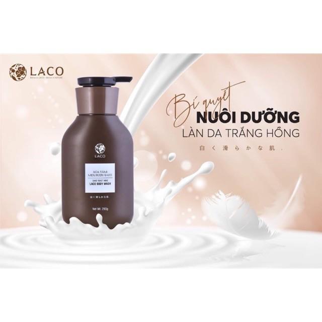 Sữa tắm của LACO - Ngừa mụn lưng, trắng sáng mượt mà