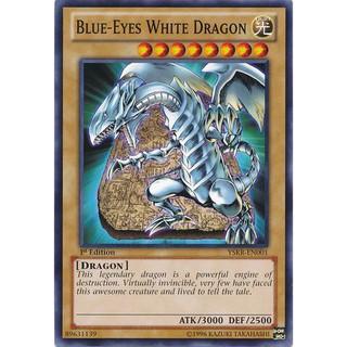 Thẻ bài Yugioh :Blue eyes White Dragon- Common- YSKR-EN001