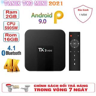 Android Tivi Box TX3 mini - 2G Ram và 16G bộ nhớ, Bluetooth, AndroidTV 9 - Phiên bản 2021 - Bảo hành 12 tháng