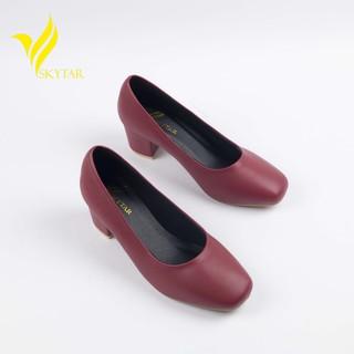 [Mã FASHION10KP giảm 10K đơn 50K] Skytar-giày cao gót mũi vuông công sở g25 thumbnail