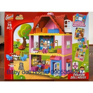 Bộ Lego Dulpo lắp ráp ngôi nhà hạnh phúc ( siêu phẩm )