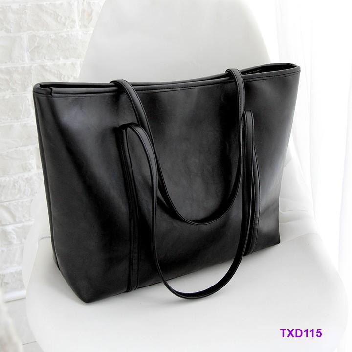 👜 Túi xách bản to đeo vai da mềm dày dặn - TXD115